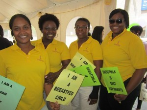 Yellow Shirts Breastfeeding Supporters (1)